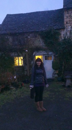 Wotton-under-Edge, UK:                                     me at the ancient ram inn
