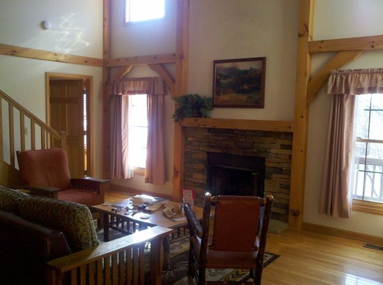 Stonewall Resort:                   Living room, vaulted ceiling