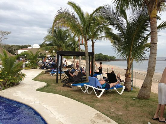 The Westin Playa Bonita Panama:                   plenty of chairs and limited canopy areas