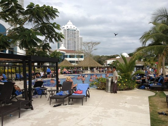 The Westin Playa Bonita Panama:                   busy pool area due to hotel full, had pool volleyball too