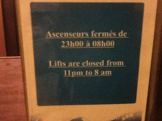 Residence Les Balcons de Val Thorens: Lifts close at 11 pm - why?
