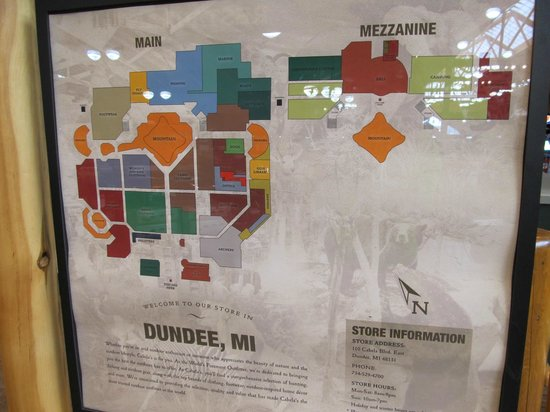 Dundee (MI) United States  city photos : Map Picture of Cabela's, Dundee TripAdvisor
