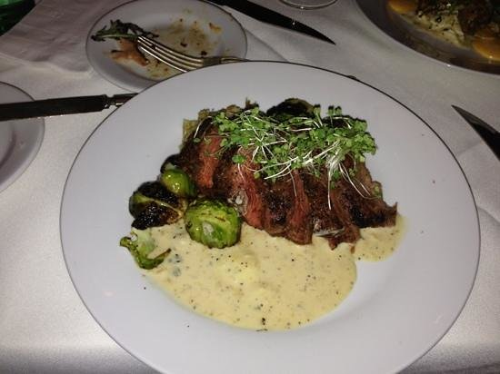 Solvang, CA:                                     flat iron steak