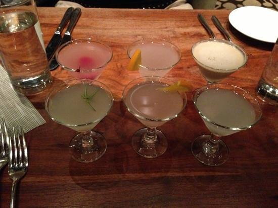 Solvang, CA: mini martini flights