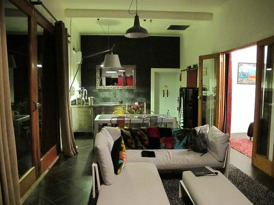 The Factory:                   Living area towards entry