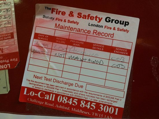 Piccadilly Backpackers Hostel:                   Out of date fire checks??? Insurance???