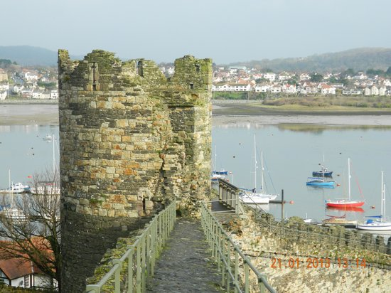 Conwy County, UK:                                     view from the walls