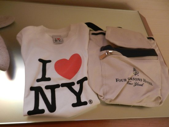 Four Seasons Hotel New York:                   Special gifts for my 5 year old from the hotel staff.