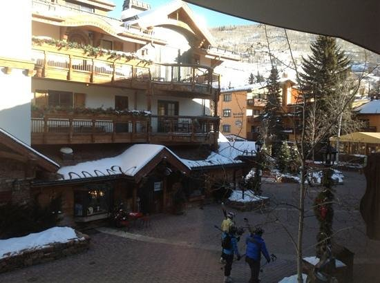 The Lodge at Vail, A RockResort:                                     the view from our room.