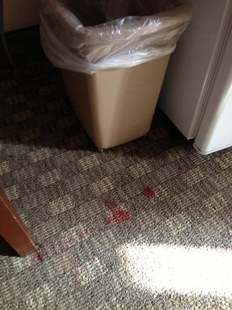 Americas Best Value Inn and Suites Stockbridge/Atlanta:                                                       multiple stains on carpet