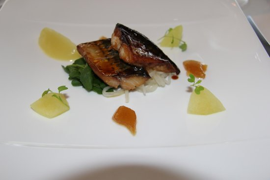 Great Milton, UK: Cornish mackeral