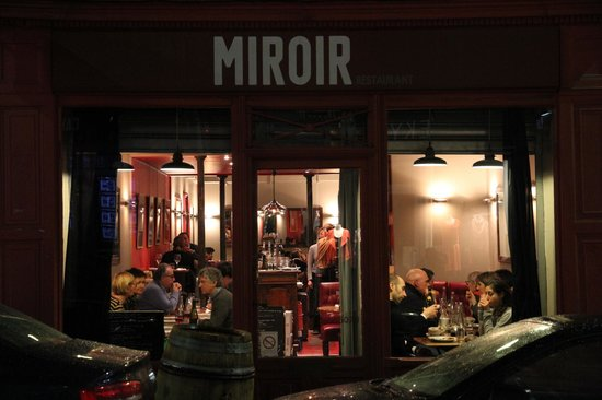miroir storefront picture of restaurant miroir paris