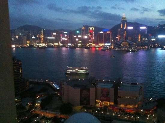 The Peninsula Hong Kong:                   View from our suite
