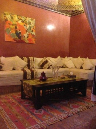Riad SADAKA: Court yard sitting area
