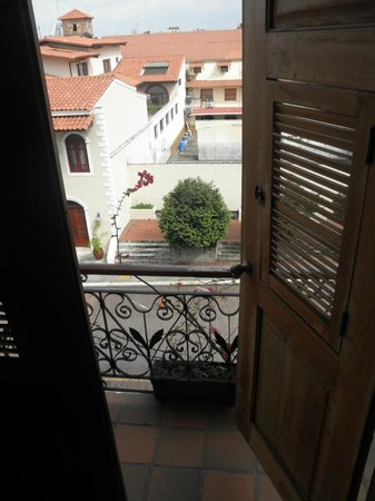 Casa Antigua:                   Private Balcony