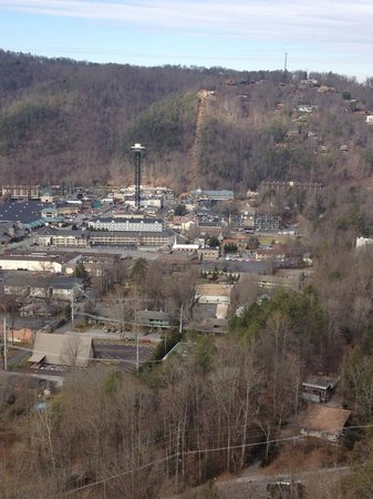 Park Vista - DoubleTree by Hilton Hotel - Gatlinburg:                   City view from our 13th floor room <3 LOVE