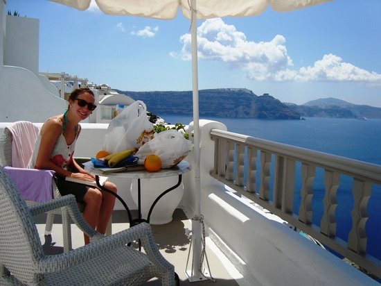 Filotera Suites: Our private balcony