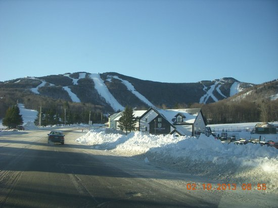 Killington, VT:                   Approaching the K1 Gondola Lodge