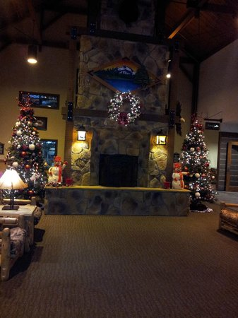 Timber Ridge Lodge & Waterpark:                   hotel lobby