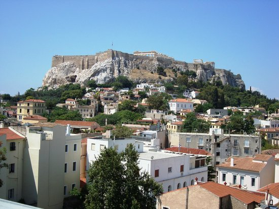 Central Hotel Athens: View from our room - spectacular!