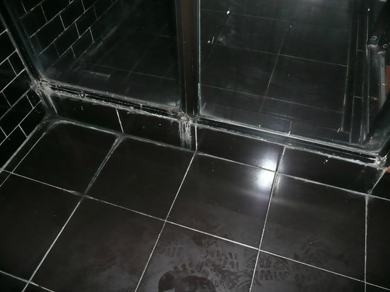 The Mansion:                   Filthy floor and shower tray room 202