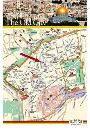 Hashimi Hotel and Hostel: THE OLD CITY MAP
