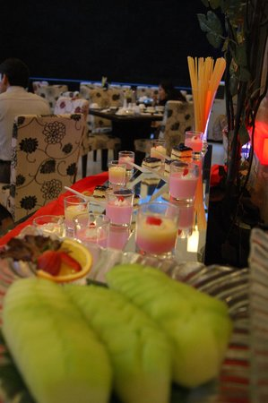 Scarlet Dago Hotel:                                     Part of the dessert spread for breakfast