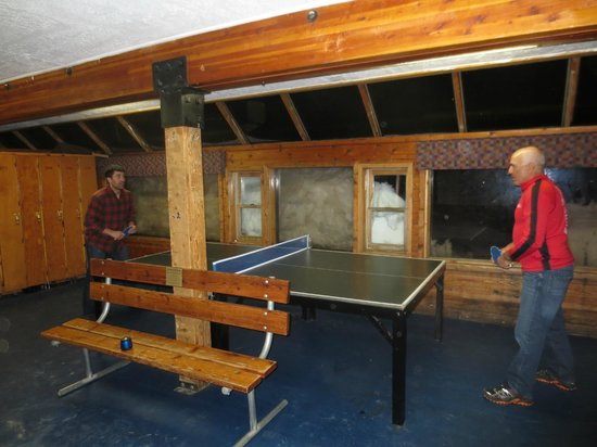 Alta Peruvian Lodge:                   Ping Pong Table outside the Ski Locker Room