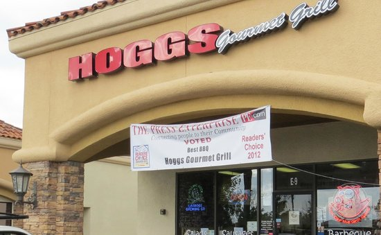 Moreno Valley, CA:                   Hoggs Gourmet Grill entrance