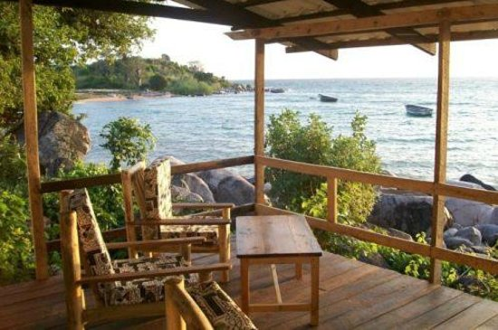 Likoma Island, : View of Bay from Restaurant and Bar Deck