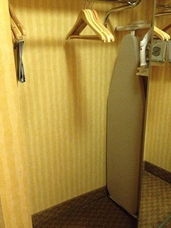 Sonesta Hotel Philadelphia: closet had mirror doors that were squeezing back and forth