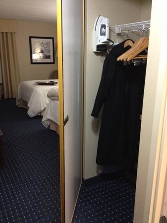 Hampton Inn Dulles-Cascades: closet door was like finding a fun treasure