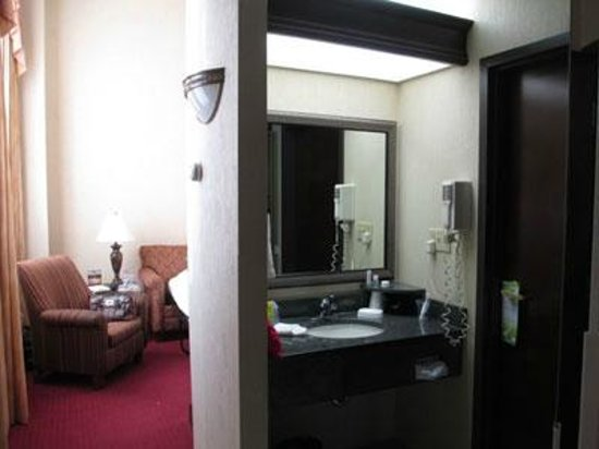 Drury Inn & Suites New Orleans:                   Bathroom and the living room