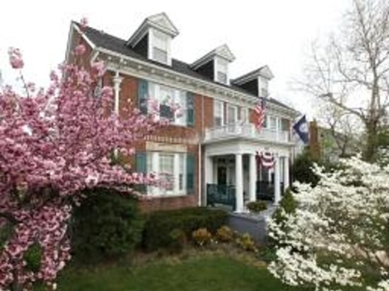 Tree Streets Inn: Front of Inn in all its springtime glory