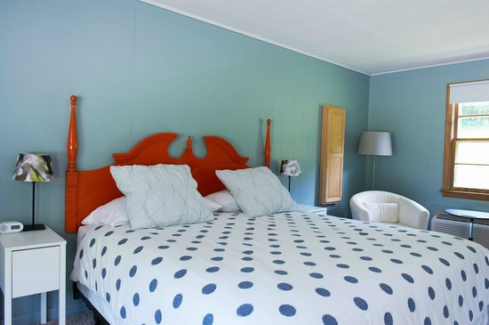 Briarcliff Motel: A king room with bright headboard!