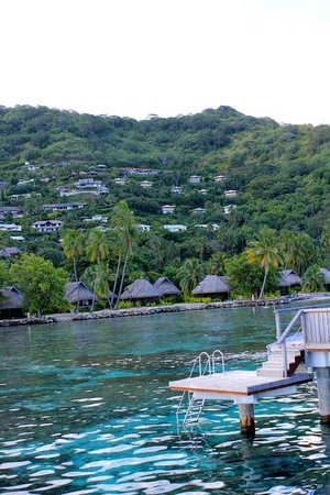 Sofitel Moorea Ia Ora Beach Resort:                   View from our deck