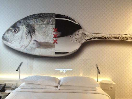 Andaz Amsterdam Prinsengracht:                   Wall art in bedroom