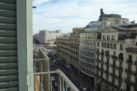 H10 Universitat Hotel: View from floor 7.