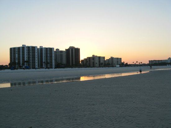 Pointe Estero Beach Resort:                   Looking back at the resort from the beach