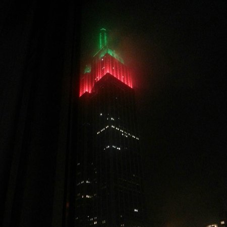 Hilton Garden Inn New York/West 35th Street:                   Empire State Bldg View from window in room-Xmas 2012