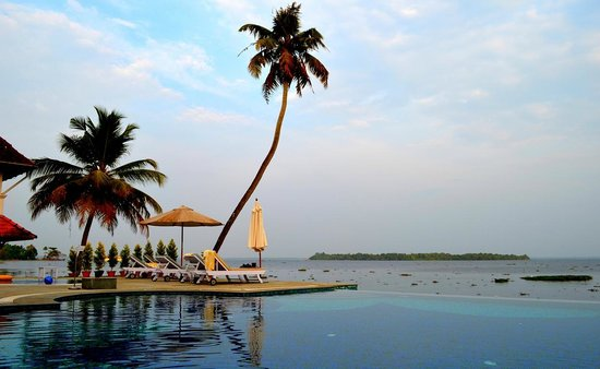 Lemon Tree Vembanad Lake Resort:                   the pool area and the expansive view of the lake