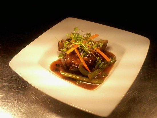 Forres, UK: braised beef rib and black bean