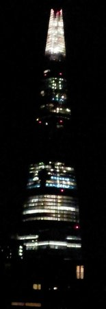 The Bermondsey Square Hotel :                   The Shard at night from our window