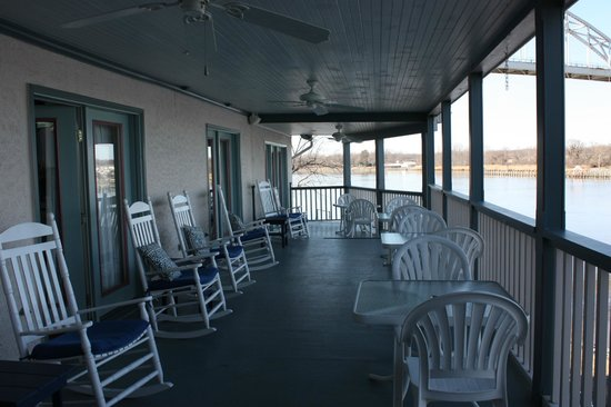 Chesapeake City, MD:                   2nd Floor Porch - Great for watching activity on the canal even in the rain!