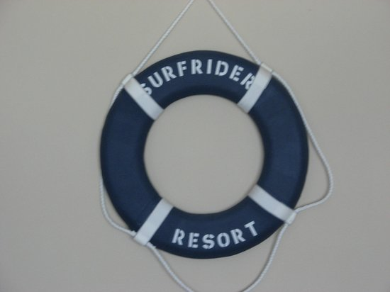 Surfrider Resort:                   The only room decor!