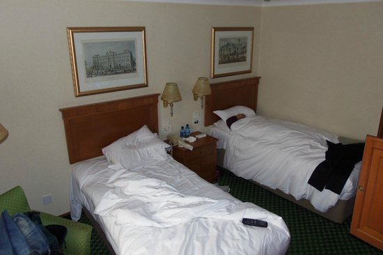 Renaissance London Heathrow Hotel:                   This was a twin room -- Very comfortable beds!