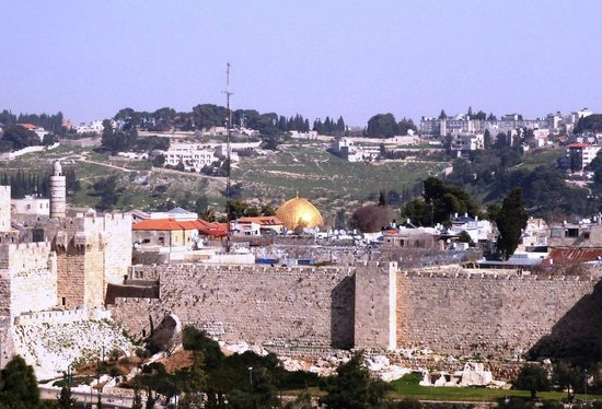 Dan Panorama Jerusalem:                   The view from the roof terrace