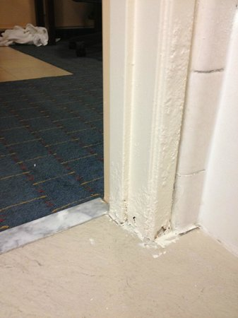 Embassy Suites by Hilton Orlando - International Drive / Convention Center:                   Bathroom doorway, hiding rust and mold