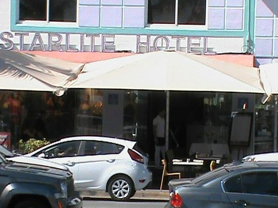 Starlite Hotel:                   View in Daytime from across the street