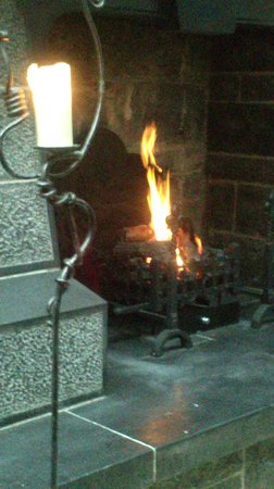 Clontarf Castle Hotel:                                     Beautiful fire to relax by